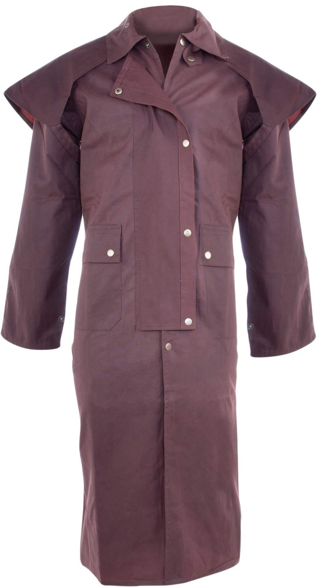 AceRugs Mens Oil Cloth Oilskin Western Australian Waterproof Duster Coat Jacket