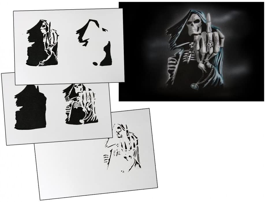 Step by Step Airbrush Stencil AS-032 ~ Template ~ UMR-Design