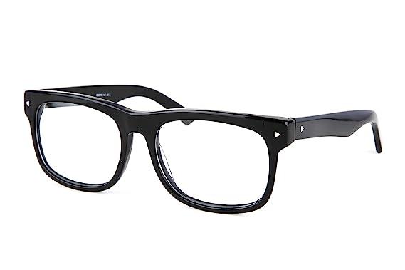 12da2b0e0b SmartBuy Collection Maxwell Unisex Prescription Eyeglass Frames - Full Rim  Square Designer Glasses Frame - Maxwell Black at Amazon Men s Clothing  store