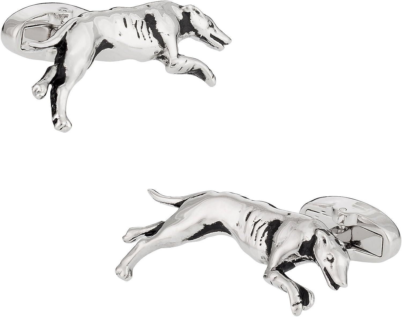 Cuff-Daddy Greyhound Cufflinks with Presentation Box