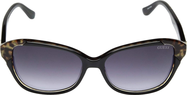 Amazon.com: Guess gu7510 05B Negro/leo gu7510 Oval anteojos ...
