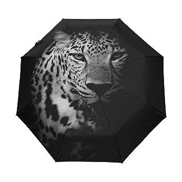 COOSUN Close Up del Retrato del Leopardo automático 3 Plegable del Paraguas del Parasol Color # 001: Amazon.es: Equipaje