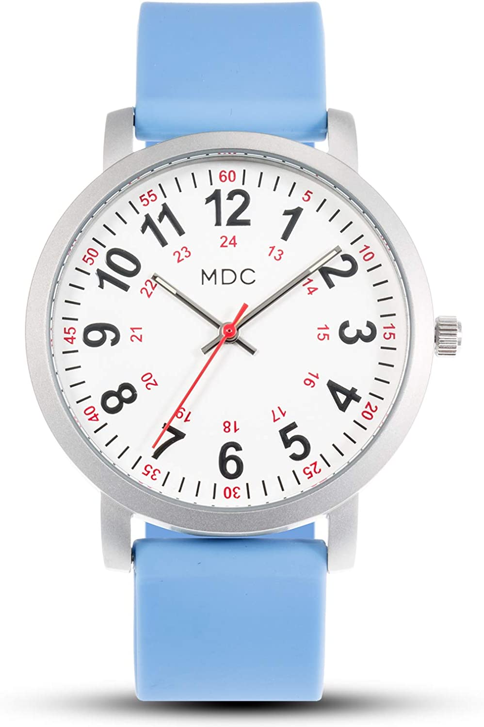 MDC Nurse Watch for Medical Students,Doctors,Women with Second Hand and 24 Hour, Waterproof, Slicone Strap