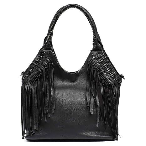 Bolsas de Hombro de Moda Bolsas de Asas Grandes de Tassle para Mujeres Bolsa de Mensajero