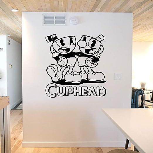 hllhpc Pegatinas de Pared Juego de Dibujos Animados Neymar Cuphead ...