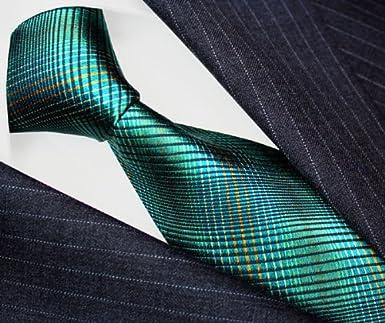 LORENZO CANA - Corbata - Cuadrados - para hombre Turquesa Azul ...