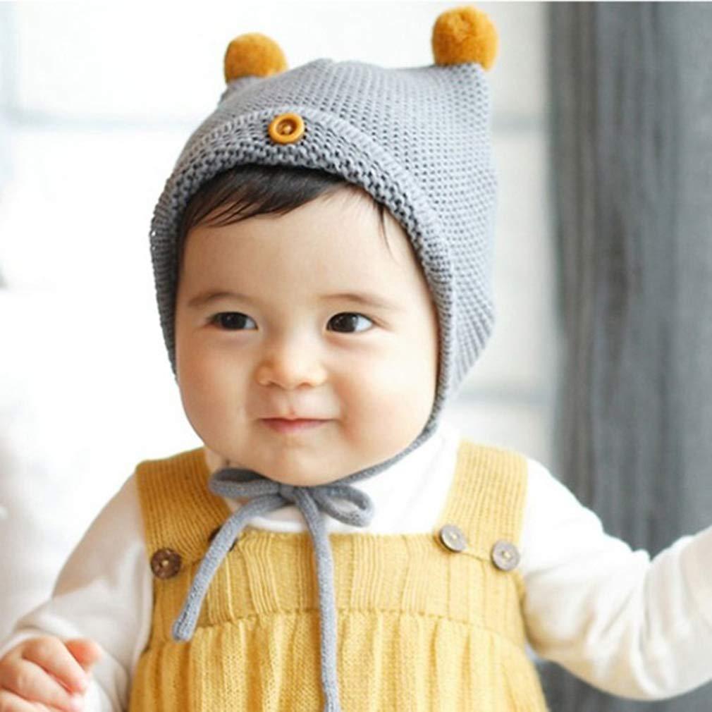 Lukis Bonnet Tricot Beanie Garçon Fille Bébé Naissance Cagoule en Coton  Chaude Chapeau Automne Hiver 4-8 Mois  Amazon.fr  Vêtements et accessoires ac70bcd0d67