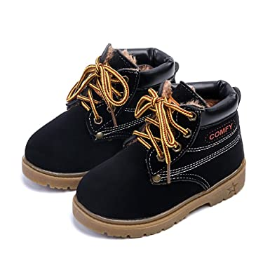 AFDSWG Winter Thick Warm Plush Yellow Men and Women Children Snow Boots  Martin Boots (6 8db141680