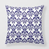 Lightinglife Throw Pillow For Sofa Damask Pillow Cushion Cover Vintage Damask Pattern Square Pillow 20