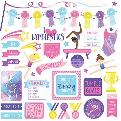 Gymnastics Scrapbook Stickers - Photo Play Paper Elements I I Love Gymnastics Stickers 12