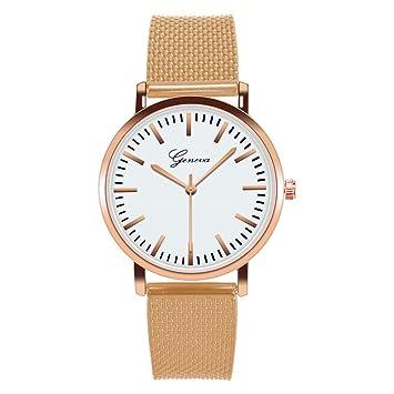 Zedo Relojes Mujer Reloj Pulsera Mujer Relojes de Mujer Reloj señora Reloj de Mujer Reloj Mujer Reloj Chica Reloj de Pulsera Reloj de Tela Rosa Dorado: ...