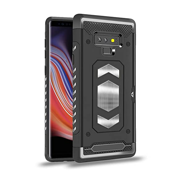 online retailer 34c4f c00ca SHARKSBox Samsung Galaxy Note 9 Case,Full-Body Rugged Holster Case with  Card Slot [Military Grade Drop Tested] Cover Shockproof Case for Samsung  Note ...