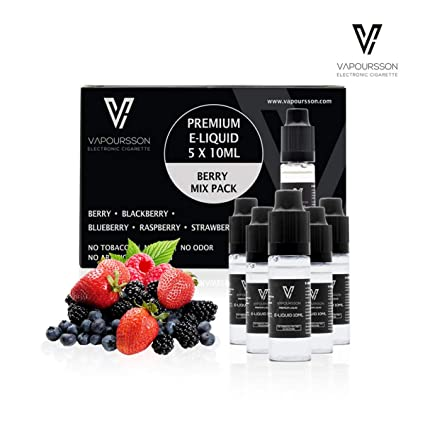 VAPOURSSON 5 x 10 ml Liquid E Berry pack | Berry Mix | Blueberry | Blackberry