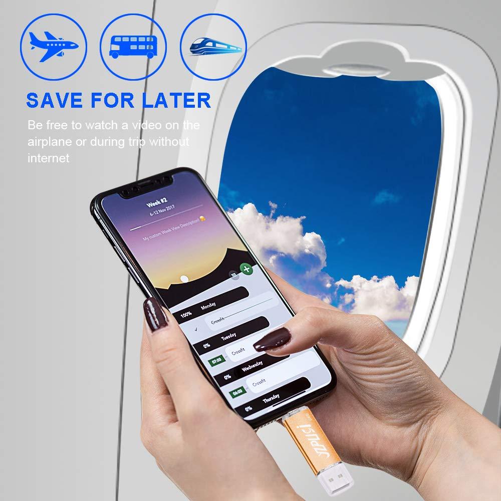 2 en 1 USB 2.0 Doble Transforma Pendrive para PC y Android con OTG Micro USB Memoria USB Compatible con Smartphones y Tableta Memory Externa YZPUSI 64gb Memoria USB