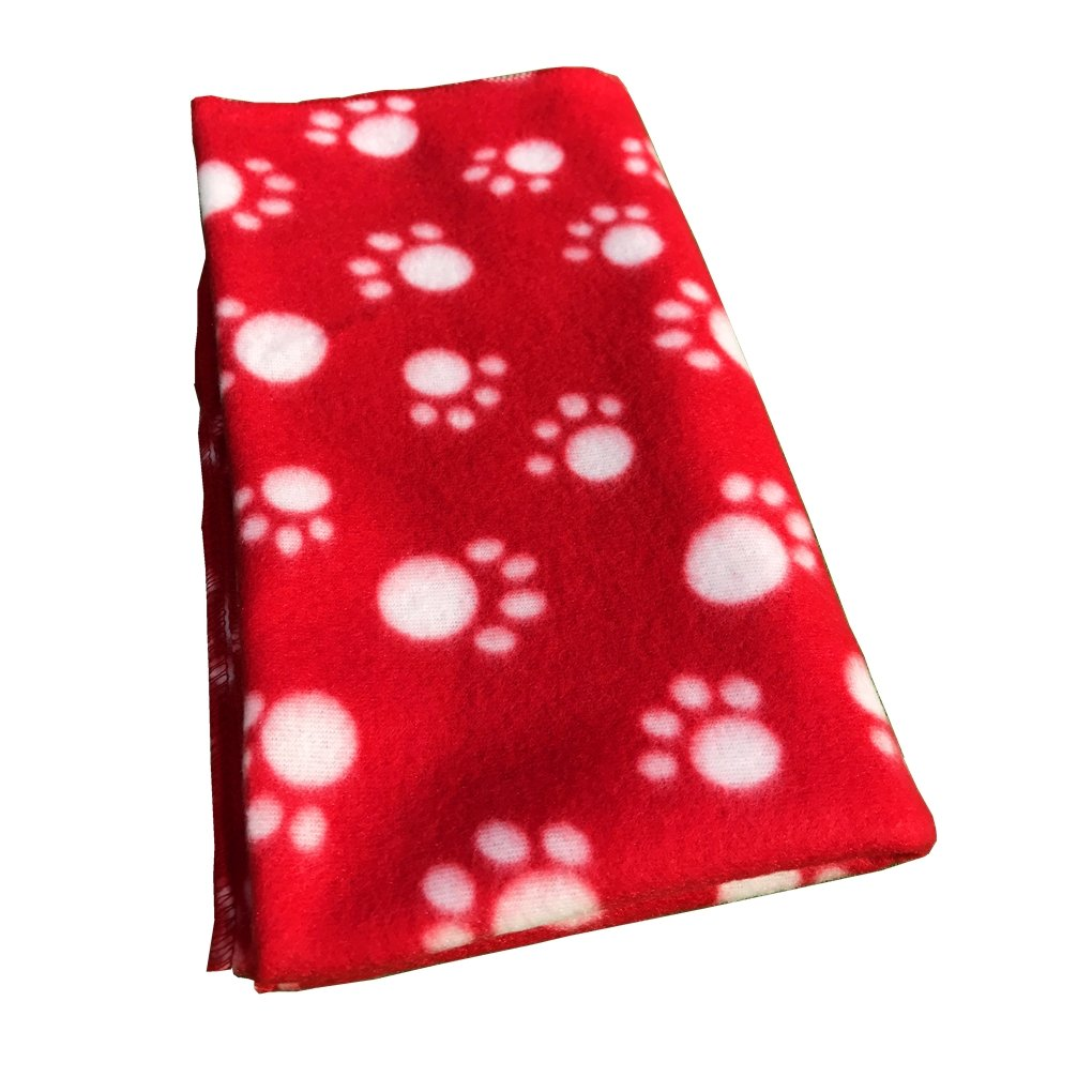 Pet Puppy Dog Blanket for Small Medium Large Dogs, 4 Pack - Red Blue Black Brown, Warm Soft Cozy Cat Dog Blankets and Throws Winter Pet Sleep Mat Pad Bed Cover with Paw Print (L - 32.3'' x 43.3'') by Joe's Home (Image #2)