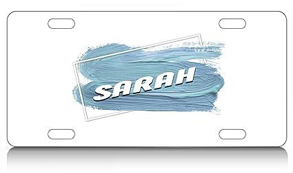 Amazon com: Makoroni - SARAH, Aluminum License Plate, Auto