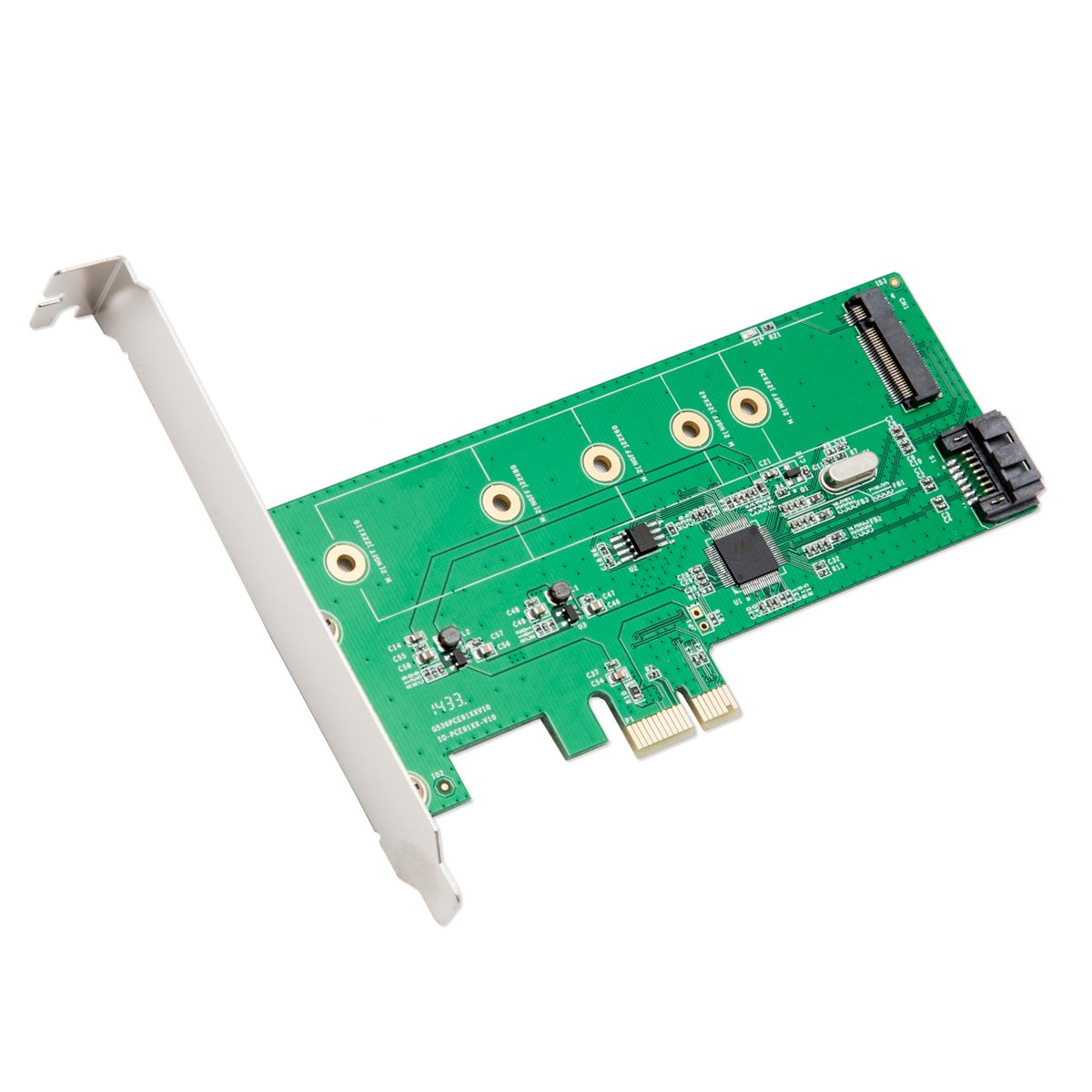 I/O Crest M.2 NGFF SDD + SATA III Port PCIe X1 Controller Card Components Other SI-PEX50069 by IO Crest