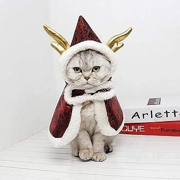 Amazon.com: FXQIN - Capa para gato, disfraz de Navidad para ...