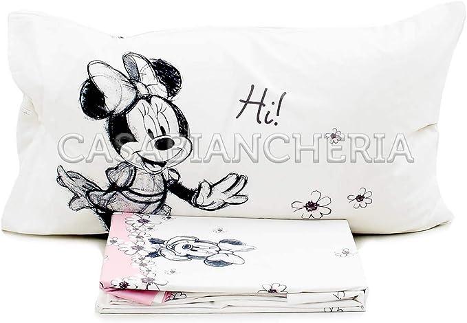Juego de sábanas Individual Disney Caleffi Minnie Ciao: Amazon.es ...