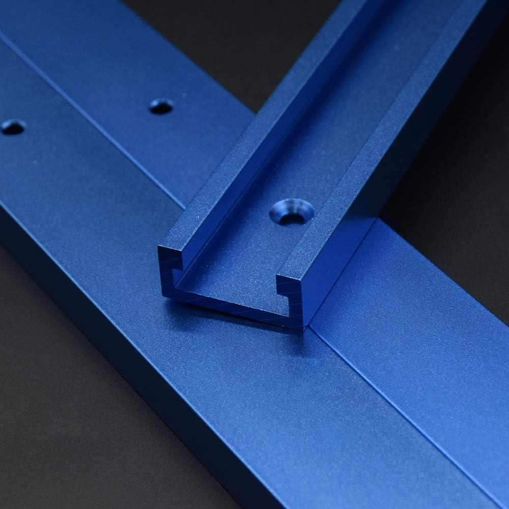 T-Slot Mitre Track Aluminium T-Track T-Slot Mitre Jig Outils T-Tracks Mitre Jig Fixation Fente pour Routeur De Travail Du Bois 500mm