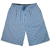 Hanes Men's Cotton Madras Drawstring Sleep Pajama Shorts, Large, Art