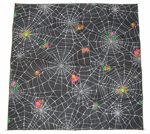 Cute Ventriloquist Doll Costume (Halloween Spider Web Bandana Holiday Craft Napkin Placemat Cloths Costume NEW!)