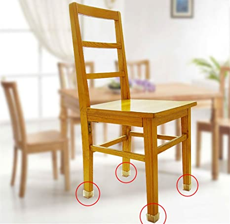Amazon MelonBoat Chair Leg Feet Wood Floor Protectors Set, Furniture  Felt Pads, Square 1-1/8 to 1-3/8