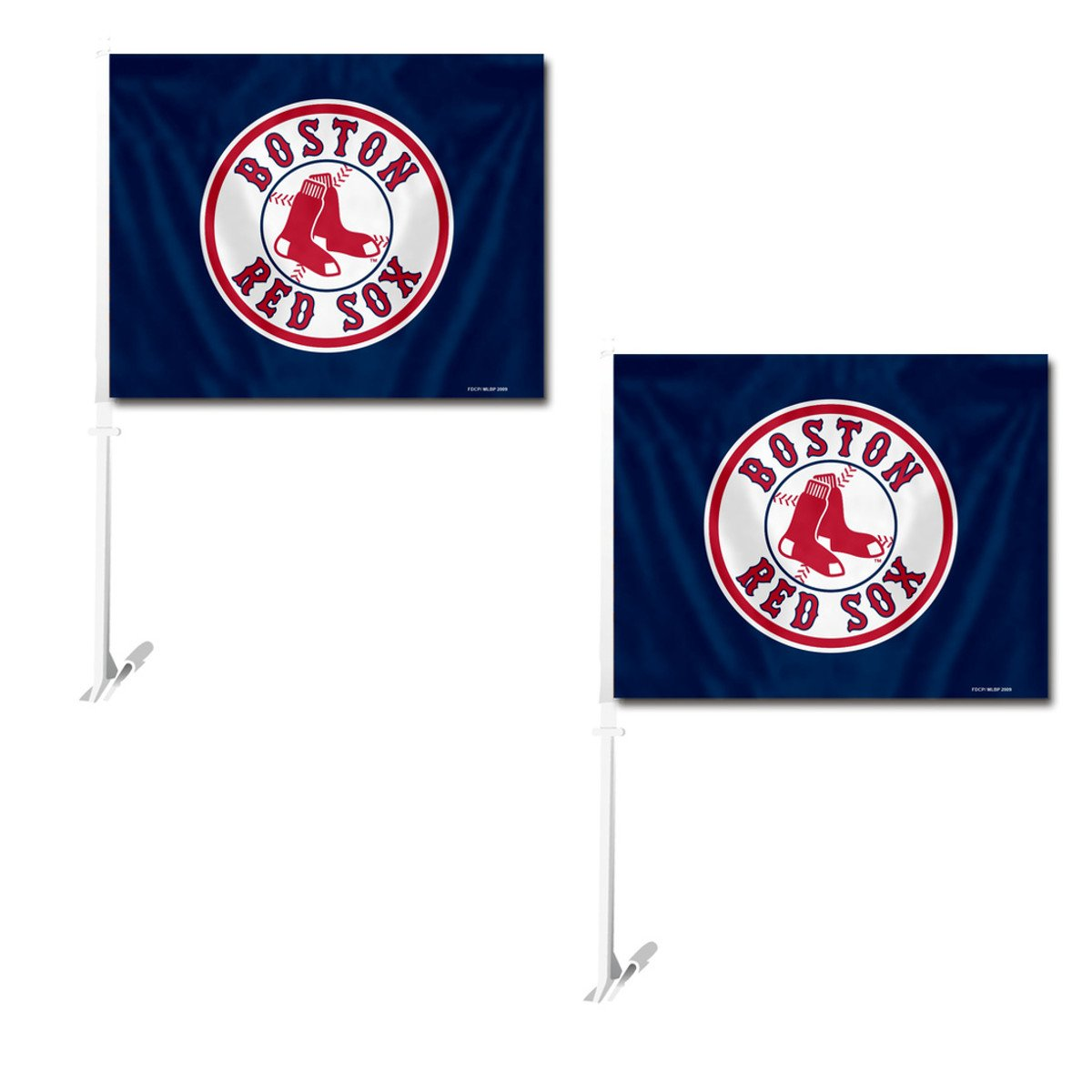 Fremont Die Official Major League Baseball Fan Shop Authentic MLB 2-Pack Car Window Flags. Show Team Pride with These 11.5 x 14.5 Window Flags.  Fremont Die Consumer Products