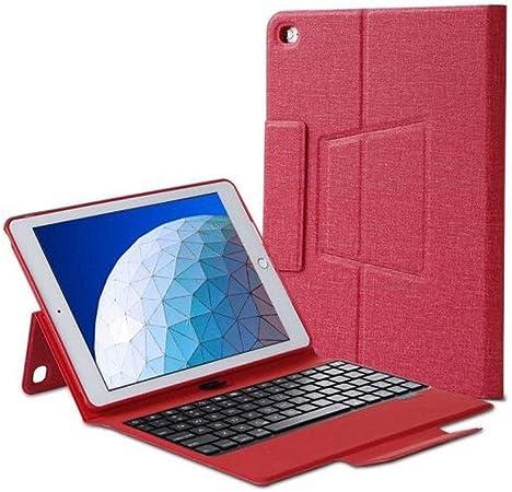 PANKUN Estuche for Tableta, Compatible con Estuche iPad Air 1/2, Estuche for Teclado de Tableta, Estuche de Cuero retroiluminado de 9.7 Pulgadas con Bandeja for bolígrafos, Negro Rojo Azul: Amazon.es: Hogar
