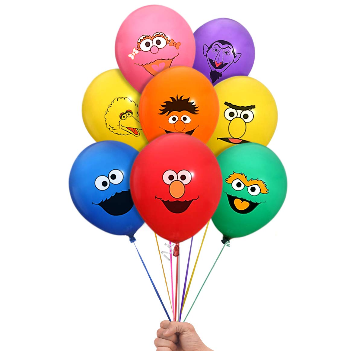 Sesame Street Elmo and Friends 24 Count Party Balloon Pack - Large 12'' Latex Balloons