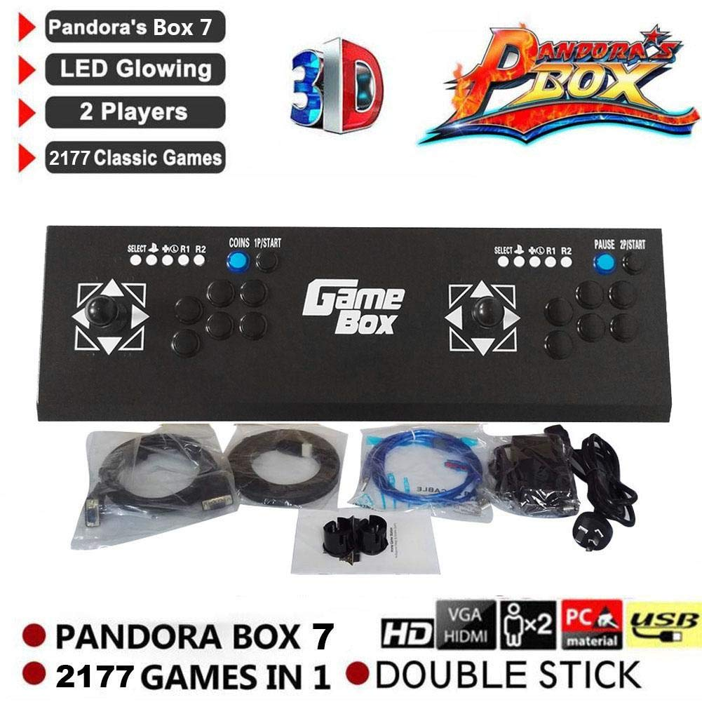2177 Pandora's Box 7 3D Arcade Machine Game Console Newest System Full HD 1920x1080 Video Game Double Stick 2 Player by SHZONS (Image #2)