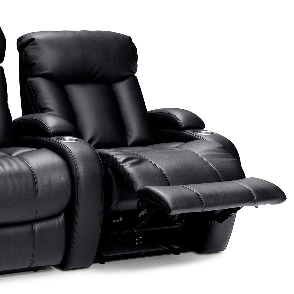 Seatcraft Sausalito Home Theater Seating Manual Recline Leather Gel (Row of 4 Loveseat, Black) by SEATCRAFT (Image #5)