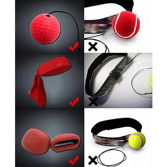 Reflex bola de boxeo, boxeo equipo de entrenamiento con guantes ...