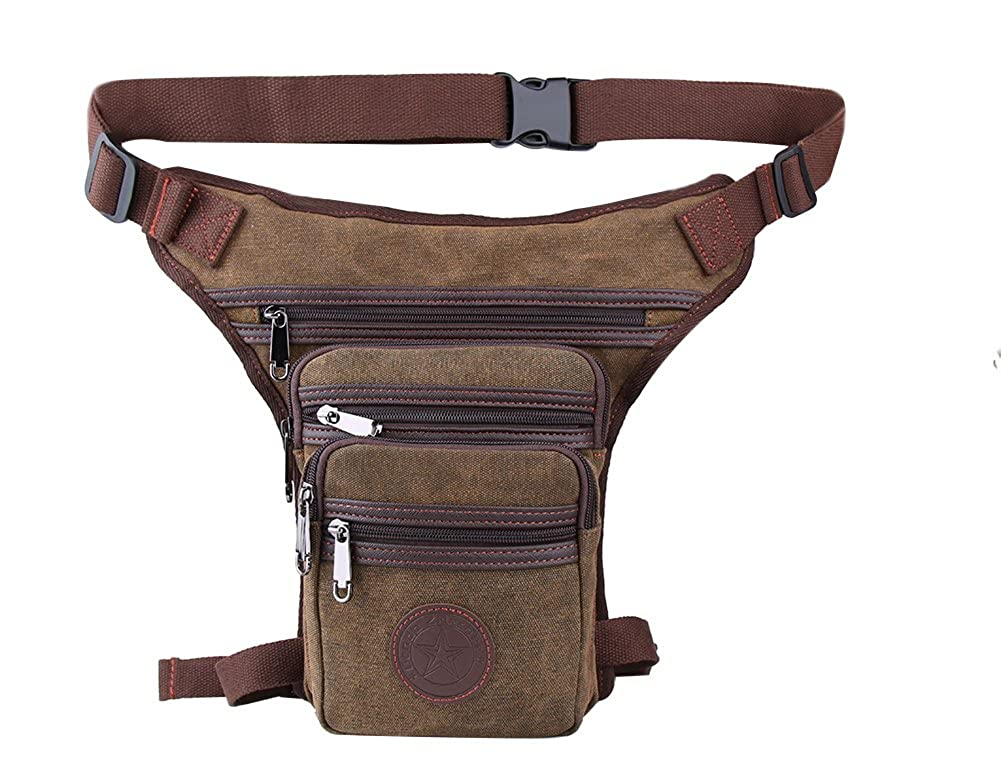 Genda 2Archer Canvas Multi-pocket Waist Bag Light Hiking Leg Bag PL-LNS258-2