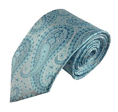 Corbata de Cachemira, turquesa con turquesa: Amazon.es: Ropa y ...