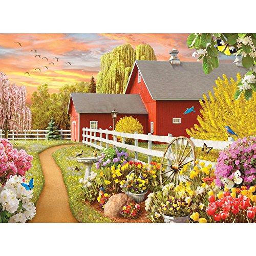 Sun Farms - Bits and Pieces - 1000 Piece Jigsaw Puzzle for Adults - Awaken III - 1000 pc Sun Rising Over the Farm Jigsaw by Artist Alan Giana