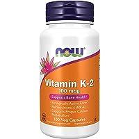 Vitamin K2 mcg Menaquinone4 MK4 Supports Bone Health Veg Capsules, ( 1 Box (100 Count)