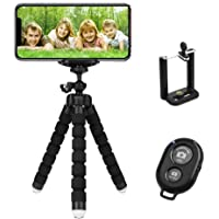 TERSELY Premium Phone Flexible Adjustable Tripod, [3 in 1] with Wireless Bluetooth Remote Shutter and Universal Clip…