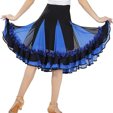 Falda de Baile Latino para Mujer, Elegante Vestido de Baile para ...