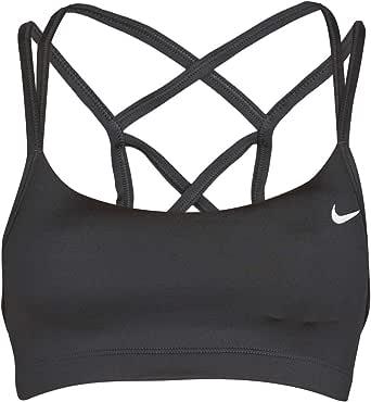Nike Women's Favorites Strappy Light Support Sports Bra, Black/White