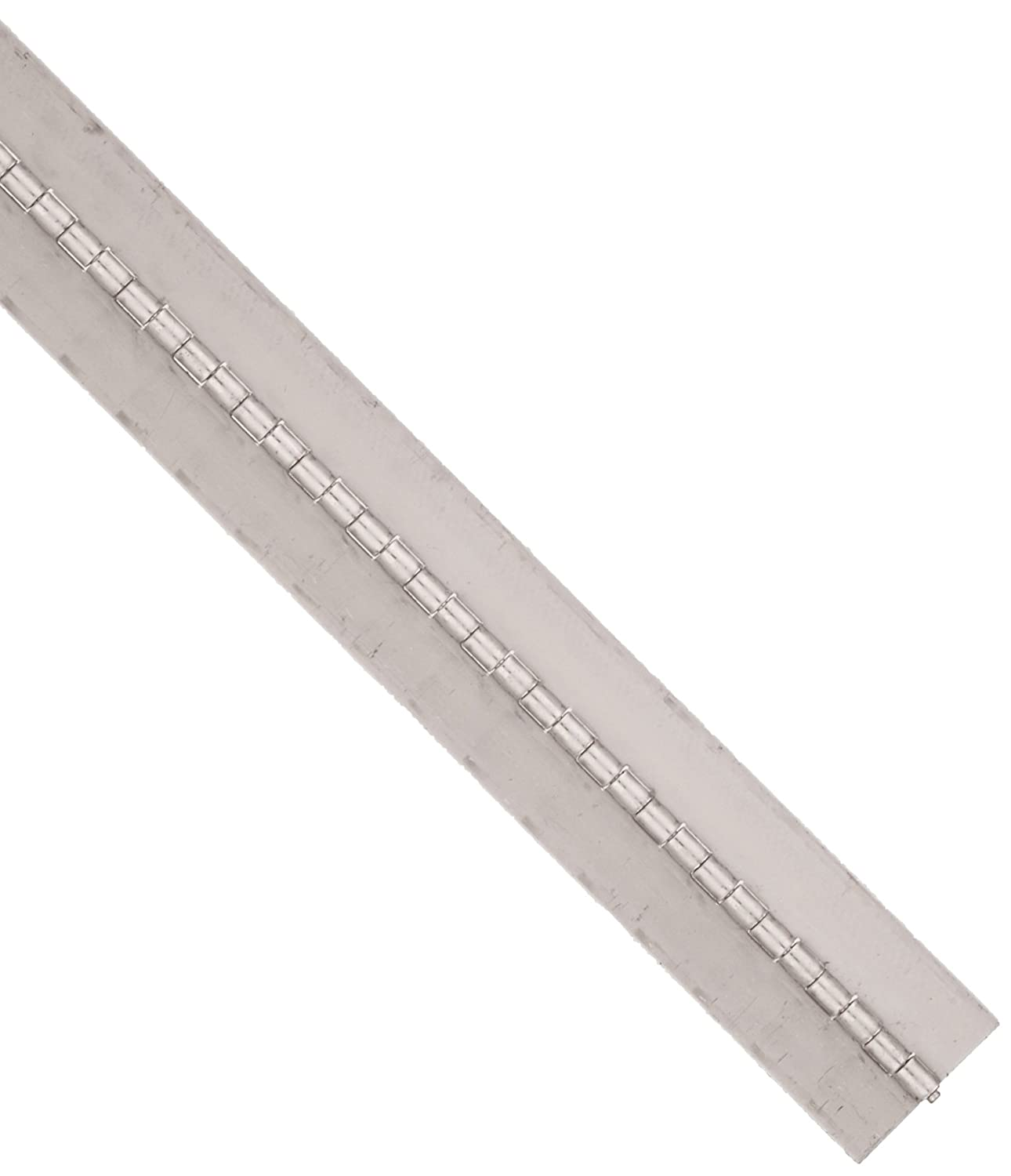 1//8 Pin Diameter Unfinished Pack of 1 1//2 Knuckle Length 3 Long Stainless Steel 304 Continuous Hinge with Holes 3 Open Width 0.06 Leaf Thickness