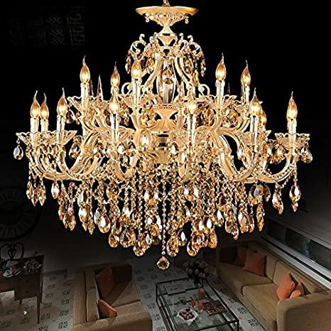 Non brand zinc alloy body crystal chandelier 18 lights arms lamp non brand zinc alloy body crystal chandelier 18 lights arms lamp color gold mozeypictures Images