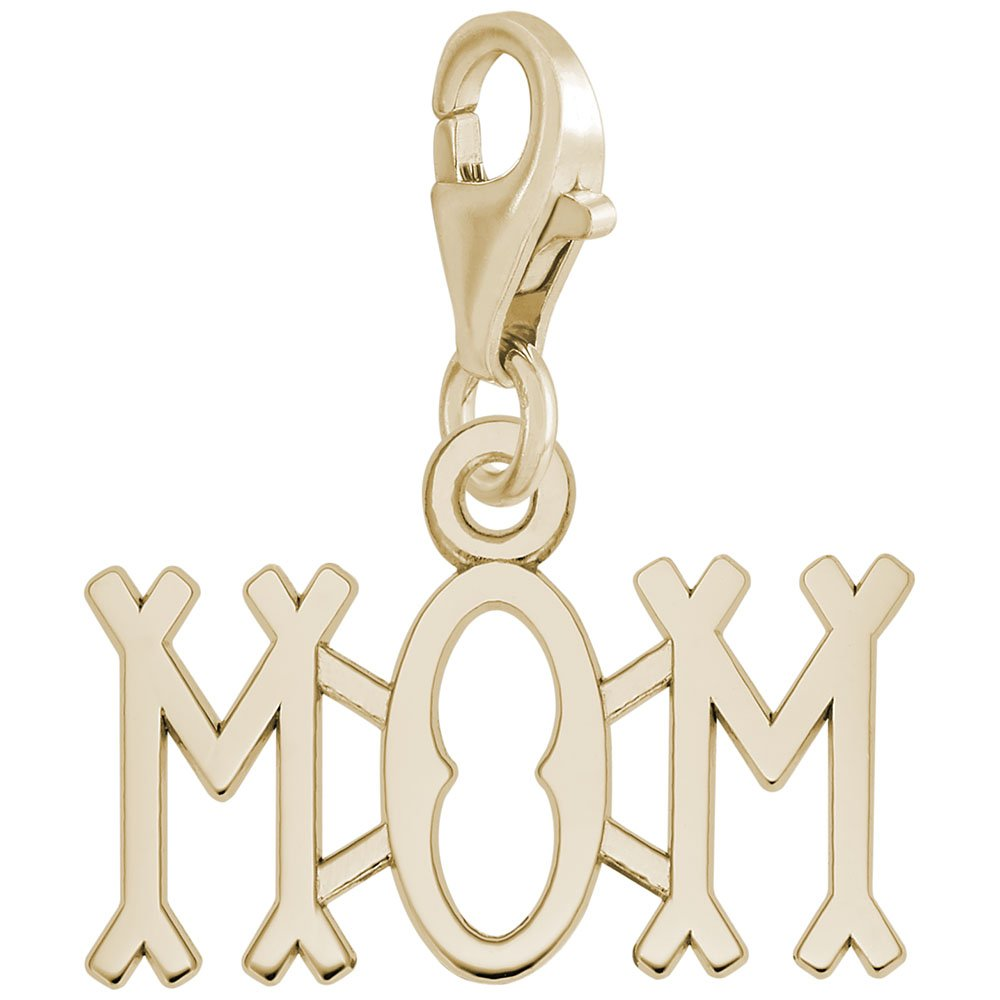 Charms for Bracelets and Necklaces Mom Charm With Lobster Claw Clasp