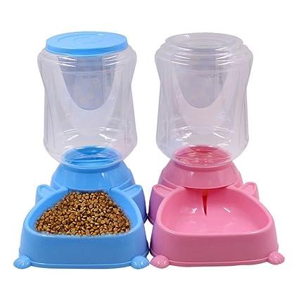 L&XY Alimentador Automático De Mascotas, Cuenco Dispensador De Alimentos con Agua De Gato para Perros