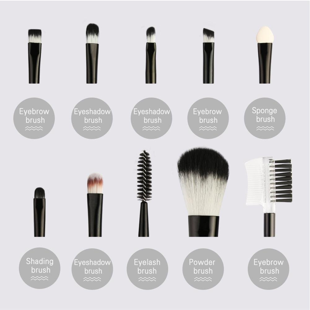 ecf74f1bec3d Amazon.com: ZHUOTOP 10Pcs Kit Women Beauty Makeup Brushes Set Eye ...