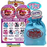 Surprizamals Mama & Baby Stuffed Animals Surprise Mystery Plush in a Ball Gift Set Party Bundle with Exclusive Matty's Toy Stop Storage Bag - 2 Pack (Assorted)