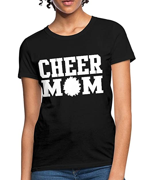 94372be3a Spreadshirt Cheer Mom Cheerleading Mother Women's T-Shirt, S (Size 4-6