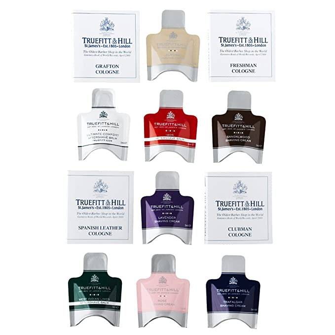 Truefitt And Hill Creams Balms And Colognes Sample Pack Amazonco
