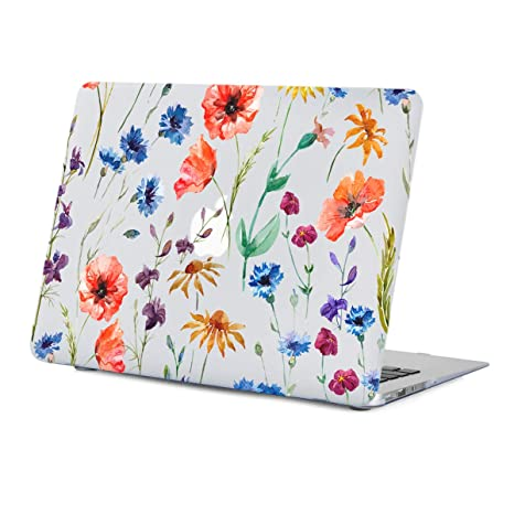 wholesale dealer c6455 90baa Lapac MacBook Air Case 13.3 inch Flower, Red Poppy Flower Clear Case,  Soft-Touch Hard Shell Case Cover for Model:A1466 A1369 with Keyboard Cover  ...