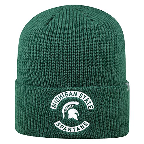 Top of the World Michigan State Spartans Official NCAA Cuffed Knit Wharf Beanie Stocking Stretch Sock Hat Cap 844558